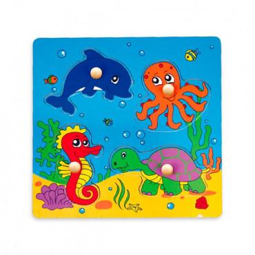 Деревянная рамка-вкладыш Viga Toys Морские обитатели