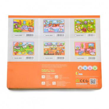 Деревянная рамка-вкладыш Viga Toys Домашние питомцы