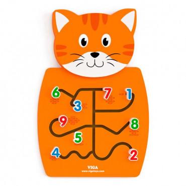 Бизиборд Viga Toys Котик с цифрами