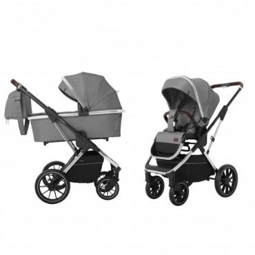 Универсальная коляска CARRELLO Aurora CRL-6505 (2in1) Silver Grey +дождевик /1/