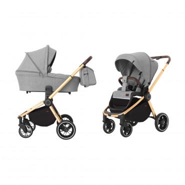 Универсальная коляска CARRELLO Epica CRL-8510 (2in1) Silver Grey +дождевик /1/